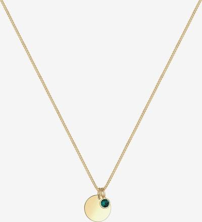 ELLI Necklace 'Geburtsstein' in Gold / Dark green, Item view