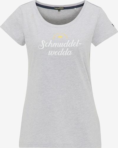 Maglietta Schmuddelwedda di colore giallo / grigio sfumato / bianco, Visualizzazione prodotti