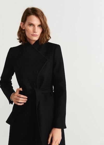 MANGO Mantel 'Luna 5' in schwarz, Modelansicht