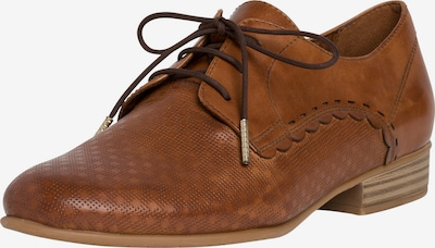 TAMARIS Buty sznurowane w kolorze koniakowym, Podgląd produktu