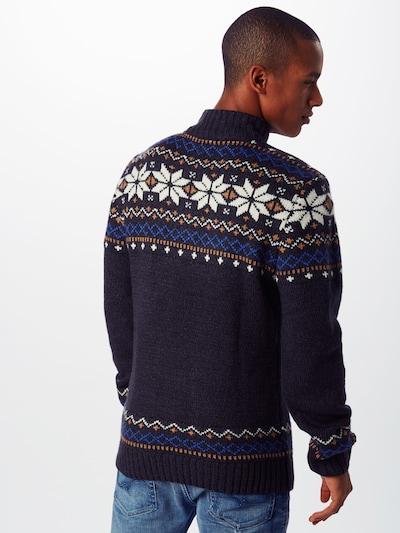"""Megztinis iš BLEND , spalva - tamsiai mėlyna / sodri mėlyna (""""karališka"""") / aukso geltonumo spalva / balta: Vaizdas iš galinės pusės"""
