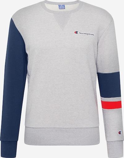 Champion Authentic Athletic Apparel Sweatshirt in rauchblau / graumeliert / rot, Produktansicht