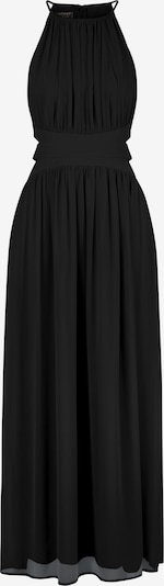 APART Abendkleid aus zartem Chiffon in schwarz: Frontalansicht