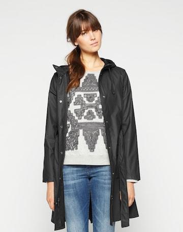 RAINS Between-seasons coat in Black