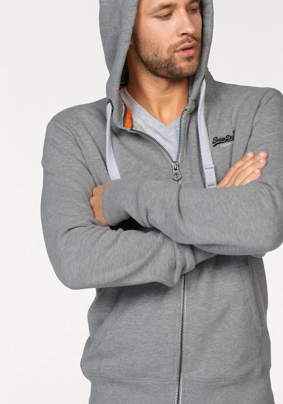 Superdry Sweatshirtjacke 'Orange Label Ziphood'