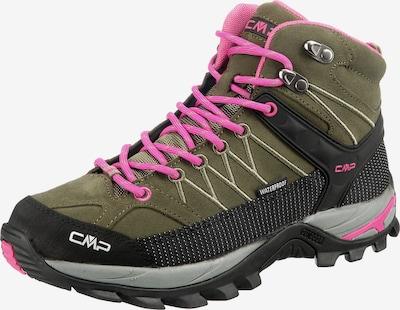 CMP Trekkingboots 'Rigel Mid' in grau / grün / dunkelgrün / pink, Produktansicht