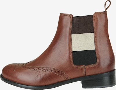 COX Chelsea Boots mit Kontraststreifen in braun / cognac, Produktansicht