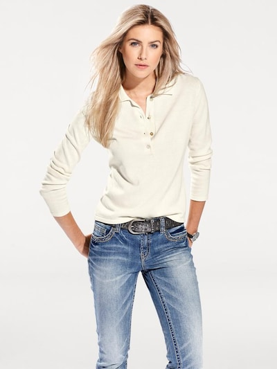 Pullover heine di colore crema: Vista frontale