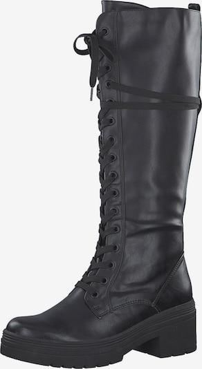 MARCO TOZZI Škornji z vezalkami | črna barva, Prikaz izdelka