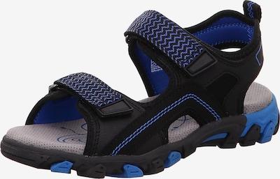 SUPERFIT Sandalen 'Hike' in blau / schwarz, Produktansicht