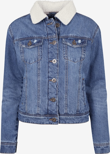 Urban Classics Jacket in blue denim / weiß: Frontalansicht