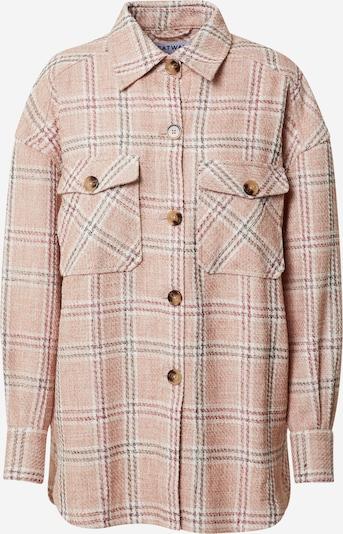 CATWALK JUNKIE Bluse i brun / rosé / hvid, Produktvisning