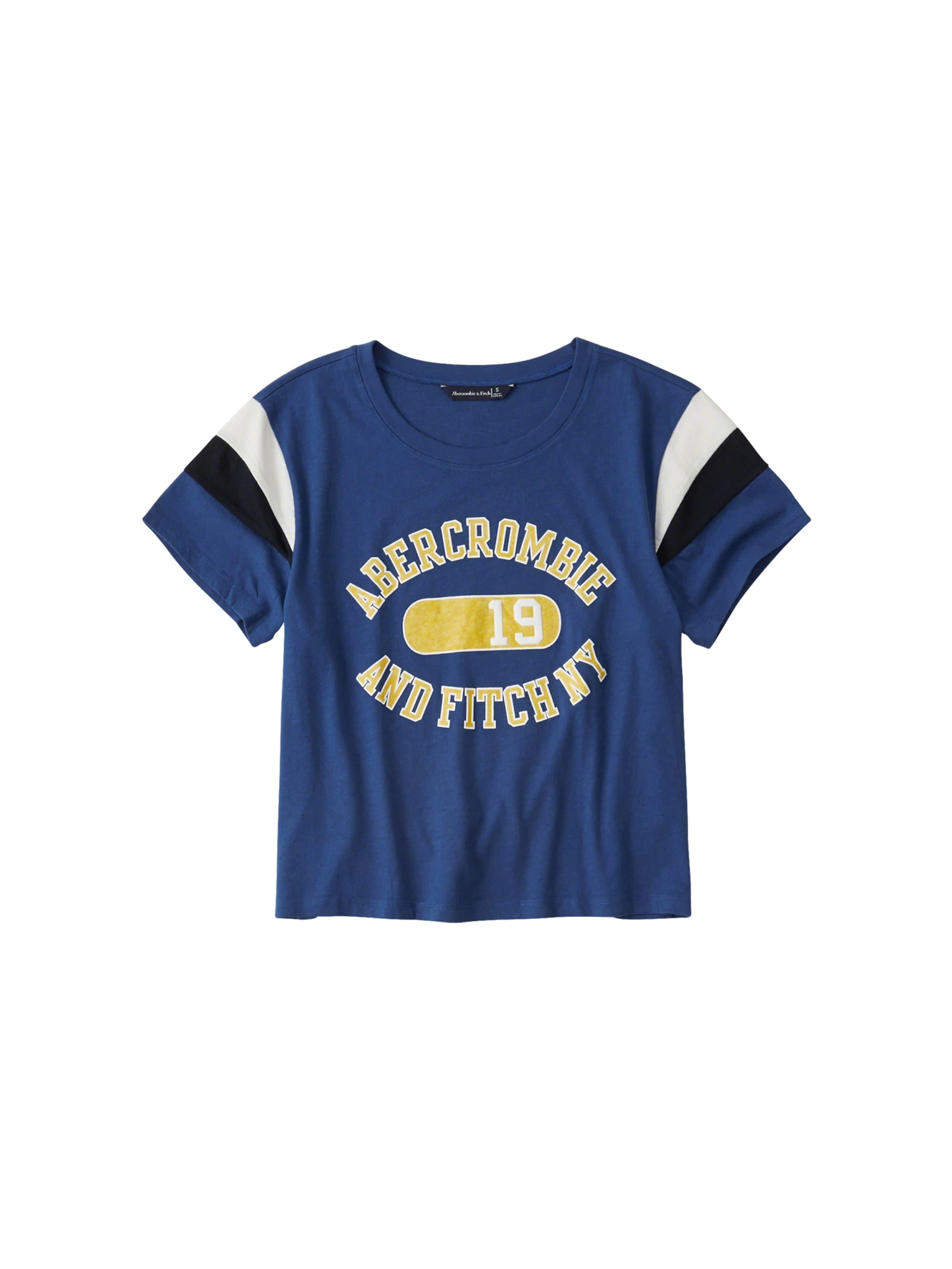 T Stripe Fitch 'ss Bleu shirt Abercrombieamp; Seasonal Logo' Slv En PkZiXu