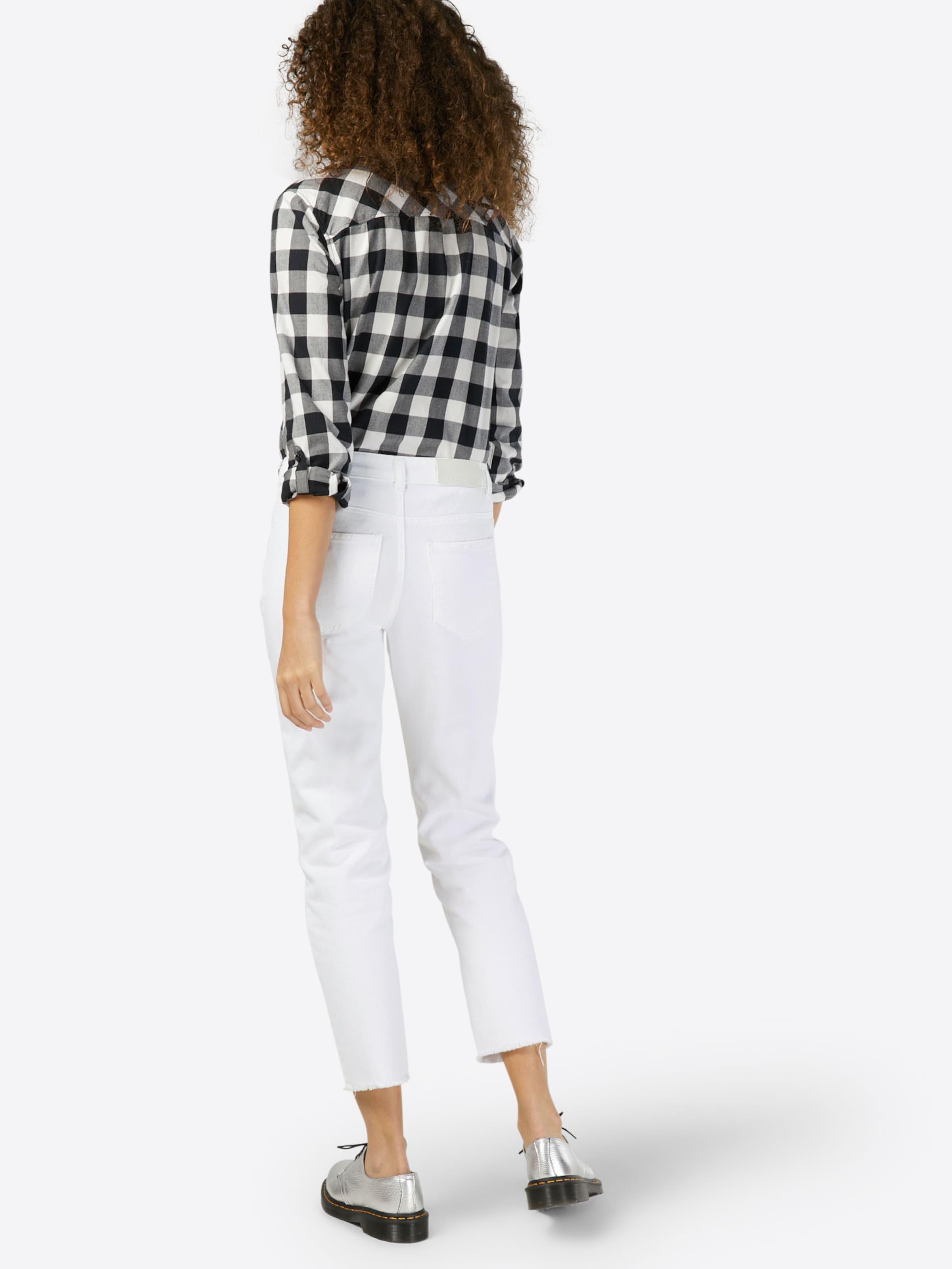 May Noisy Jeans' Jean Color Destroy Blanc En Nw 'nmkim Loose TlFc31KJ