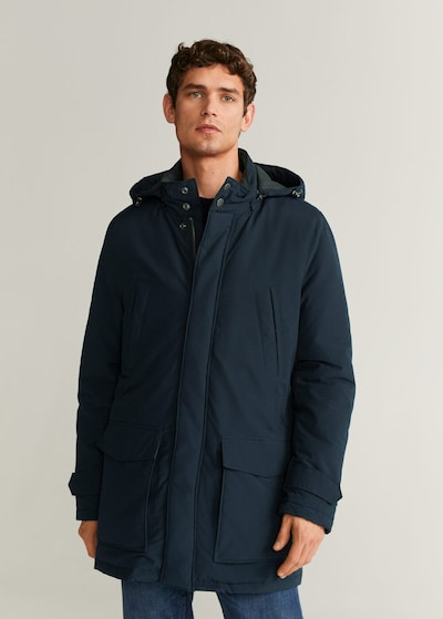 MANGO MAN Winterjas 'Arrow' in de kleur Navy, Modelweergave