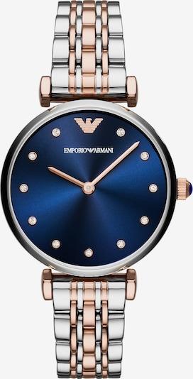 Emporio Armani Quarzuhr in blau / rosegold / silber, Produktansicht