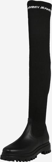 Tommy Jeans Botas sobre la rodilla en negro / blanco, Vista del producto