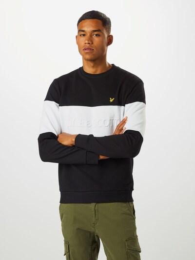 Lyle & Scott Sweatshirt in de kleur Zwart / Wit: Vooraanzicht
