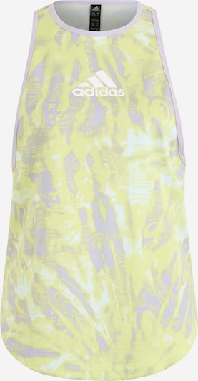 ADIDAS PERFORMANCE Haut de sport en jaune clair / violet pastel, Vue avec produit