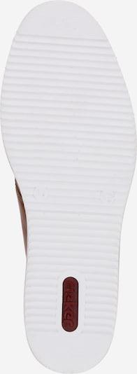 RIEKER Schnürschuh in braun: Ansicht von unten