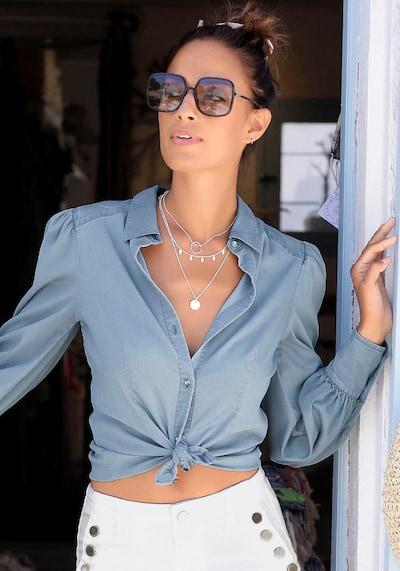 VIVANCE Bluse in blau, Modelansicht