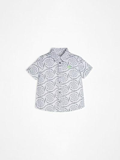 GUESS KIDS Hemd in blaumeliert / weiß, Produktansicht