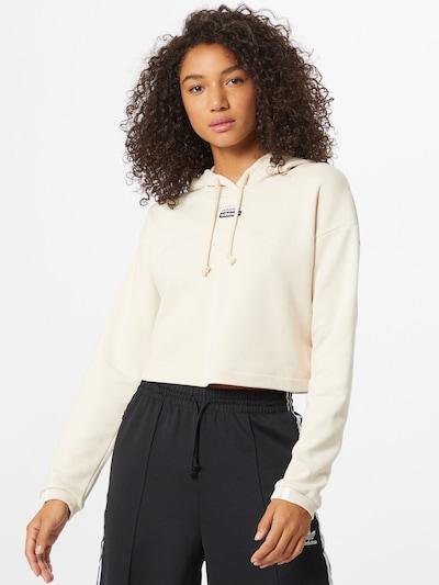 ADIDAS ORIGINALS Sweatshirt in beige / schwarz: Frontalansicht