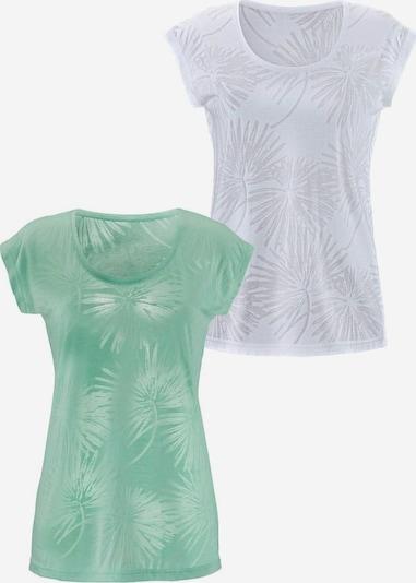 BEACH TIME T-Krekls piparmētru / balts, Preces skats