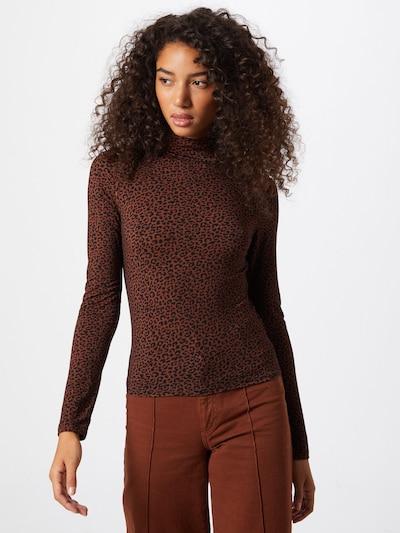 Gina Tricot Shirt 'Dorsia' in rostbraun / schwarz, Modelansicht