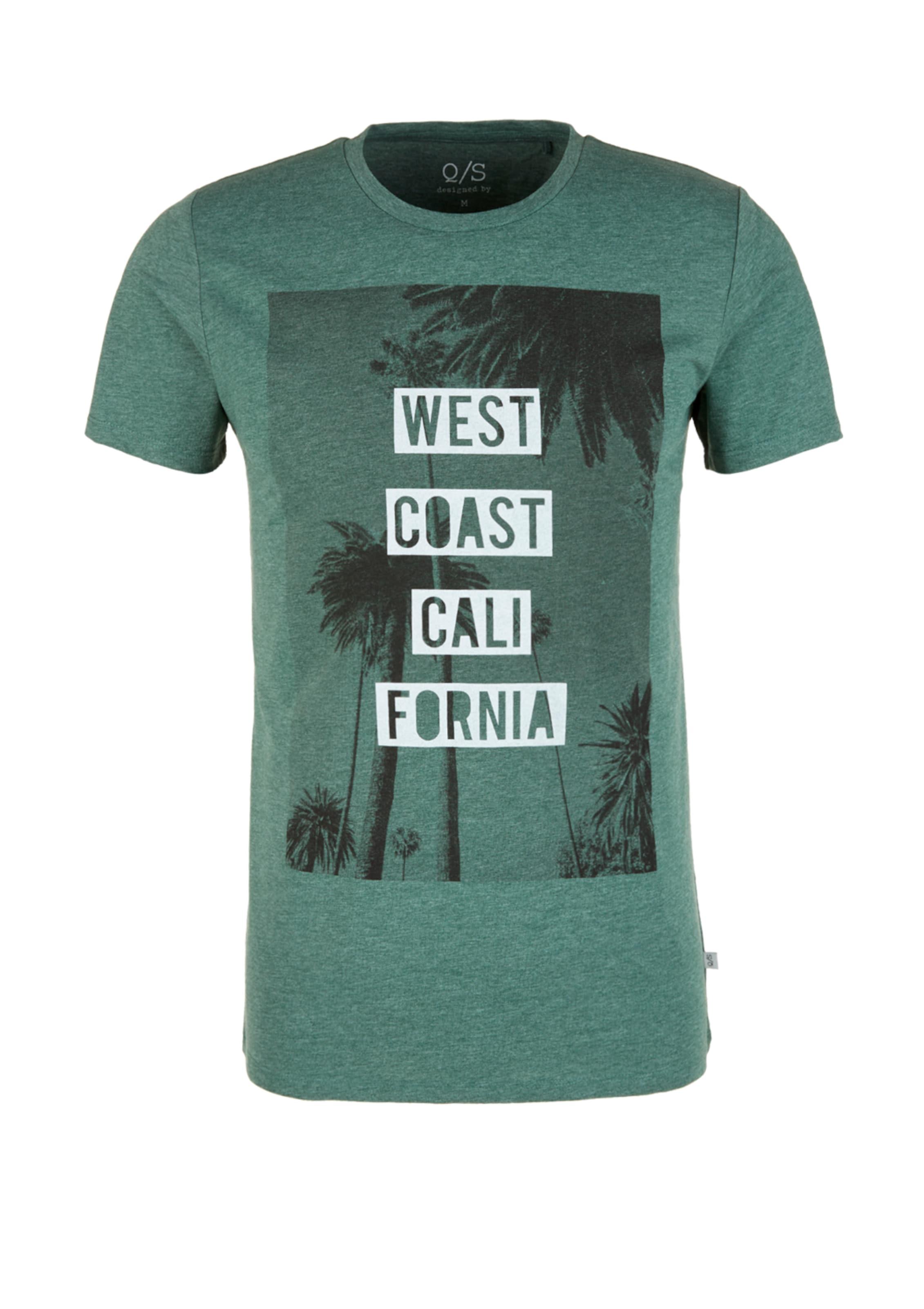 Shirt GrünmeliertSchwarz In s Q By Weiß Designed W2YEI9DH