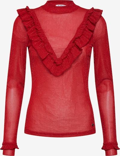 LeGer by Lena Gercke Lurex-Shirt 'Inga' in rot: Frontalansicht
