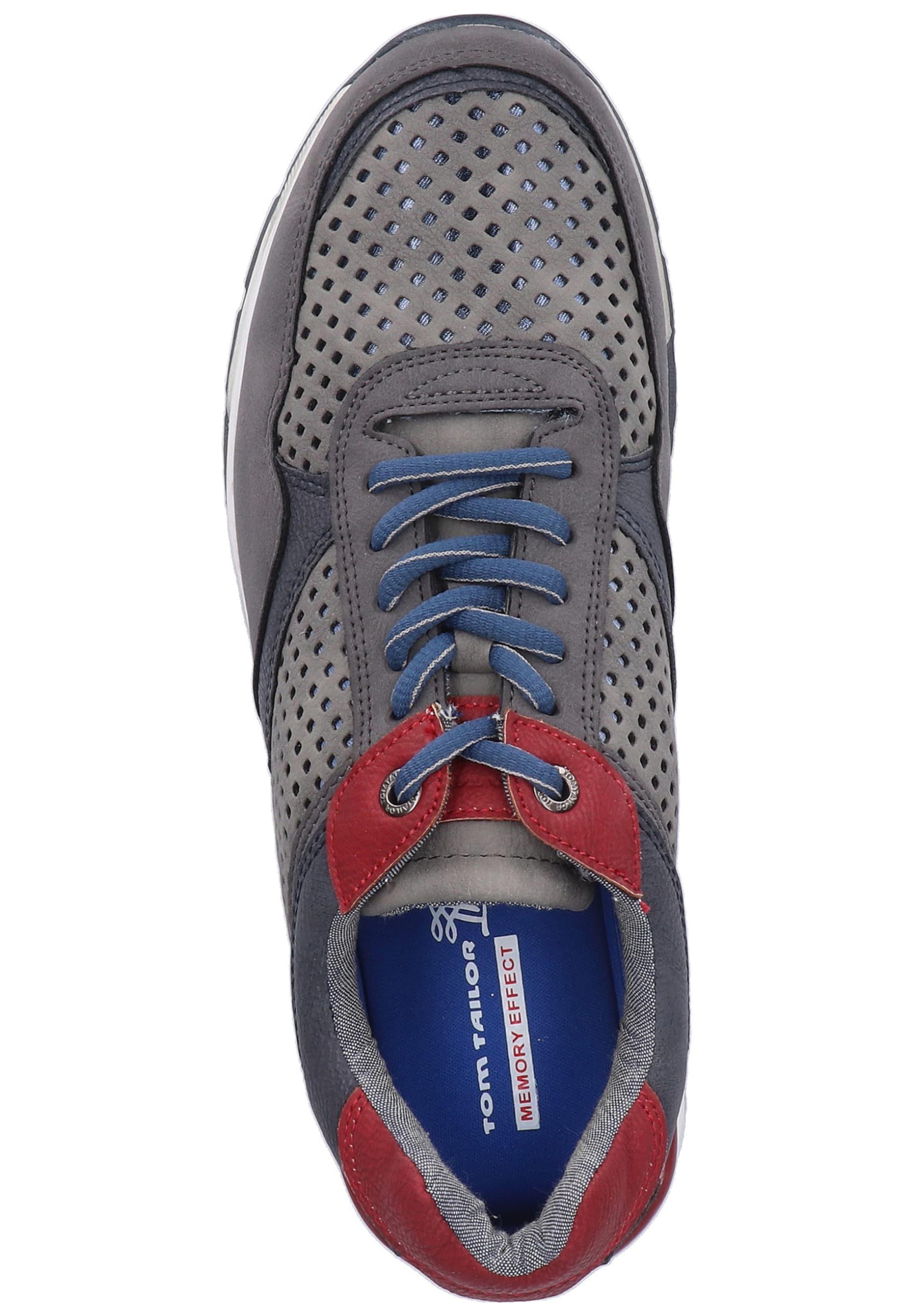 Rouge En Foncé Tailor Tom Baskets Bleu MarineGris Basses w80OkXnP