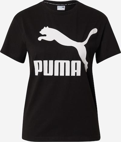 PUMA T-Shirt 'Classics' in schwarz / weiß, Produktansicht