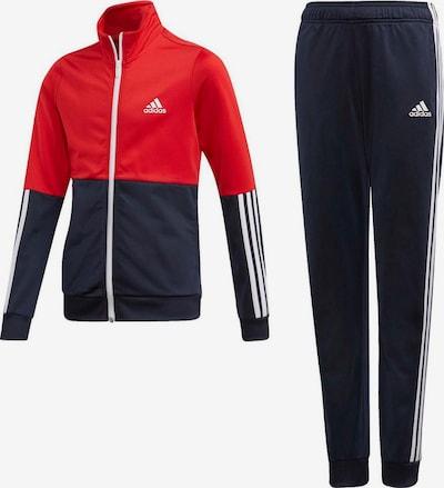 ADIDAS PERFORMANCE Trainingsanzug in dunkelblau / rot / weiß, Produktansicht