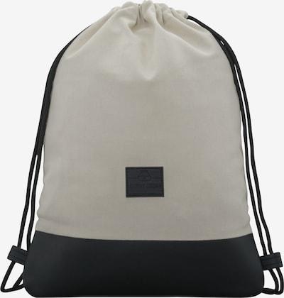 Johnny Urban Plecak na sznurkach 'Luke' w kolorze czarny / białym, Podgląd produktu