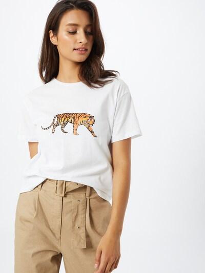 Trendyol T-Shirt in orange / schwarz / weiß: Frontalansicht