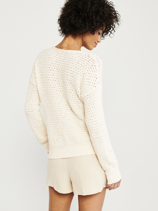 Abercrombie & Fitch Pullover in creme: Rückansicht