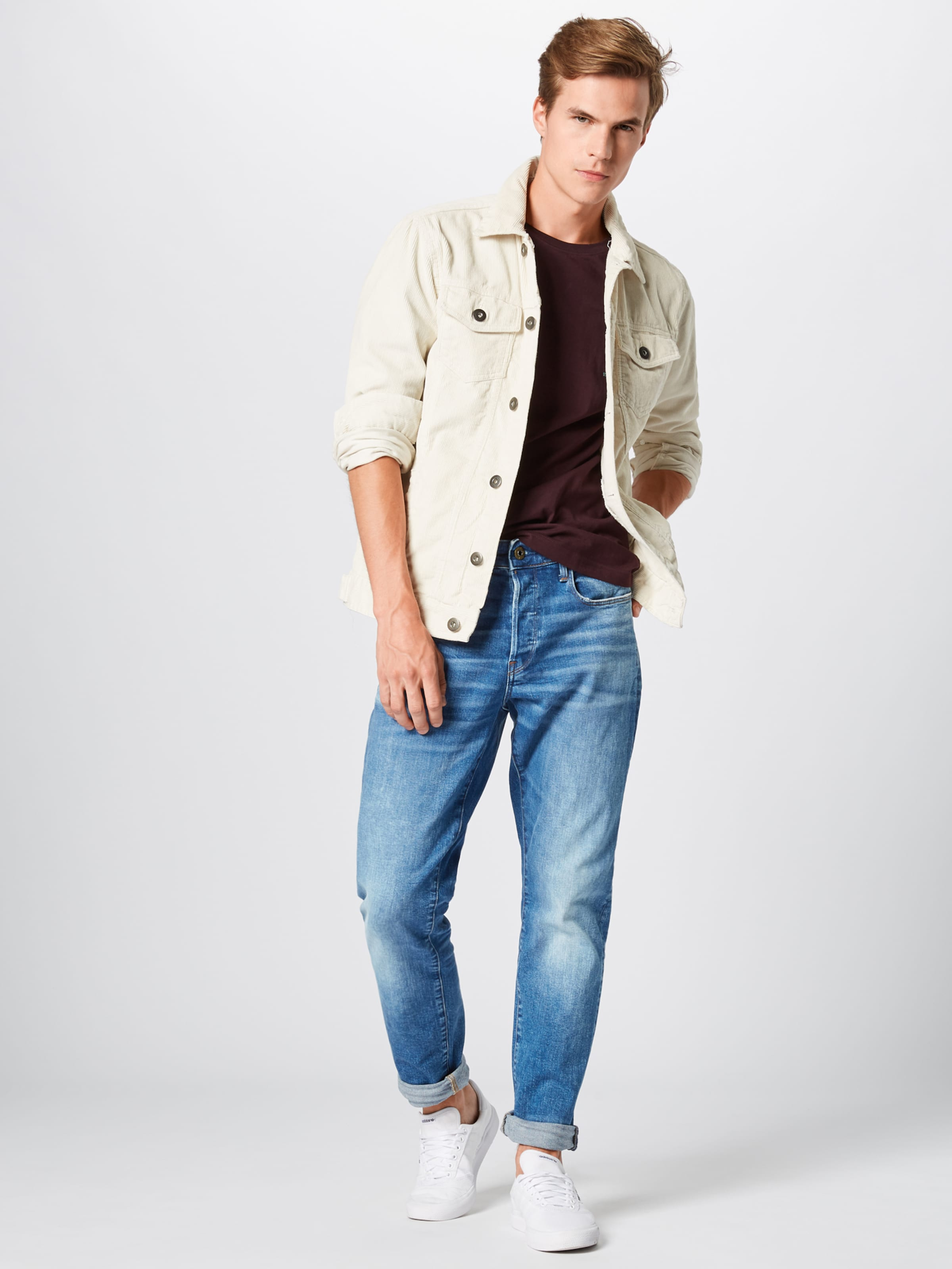 G '3301 Blue In Tapered' Raw star Denim Jeans qSMVGzpU