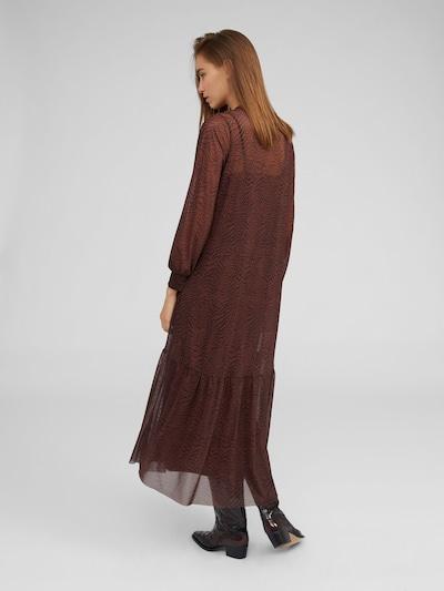 EDITED Robe 'Harriet' en marron / noir: Vue de dos