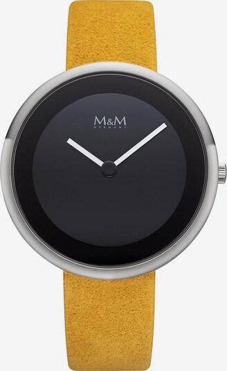 M&M GERMANY Quarzuhr 'Big Circle' in gelb / schwarz / silber, Produktansicht