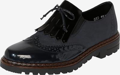 RIEKER Veterschoen in de kleur Nachtblauw / Zwart, Productweergave