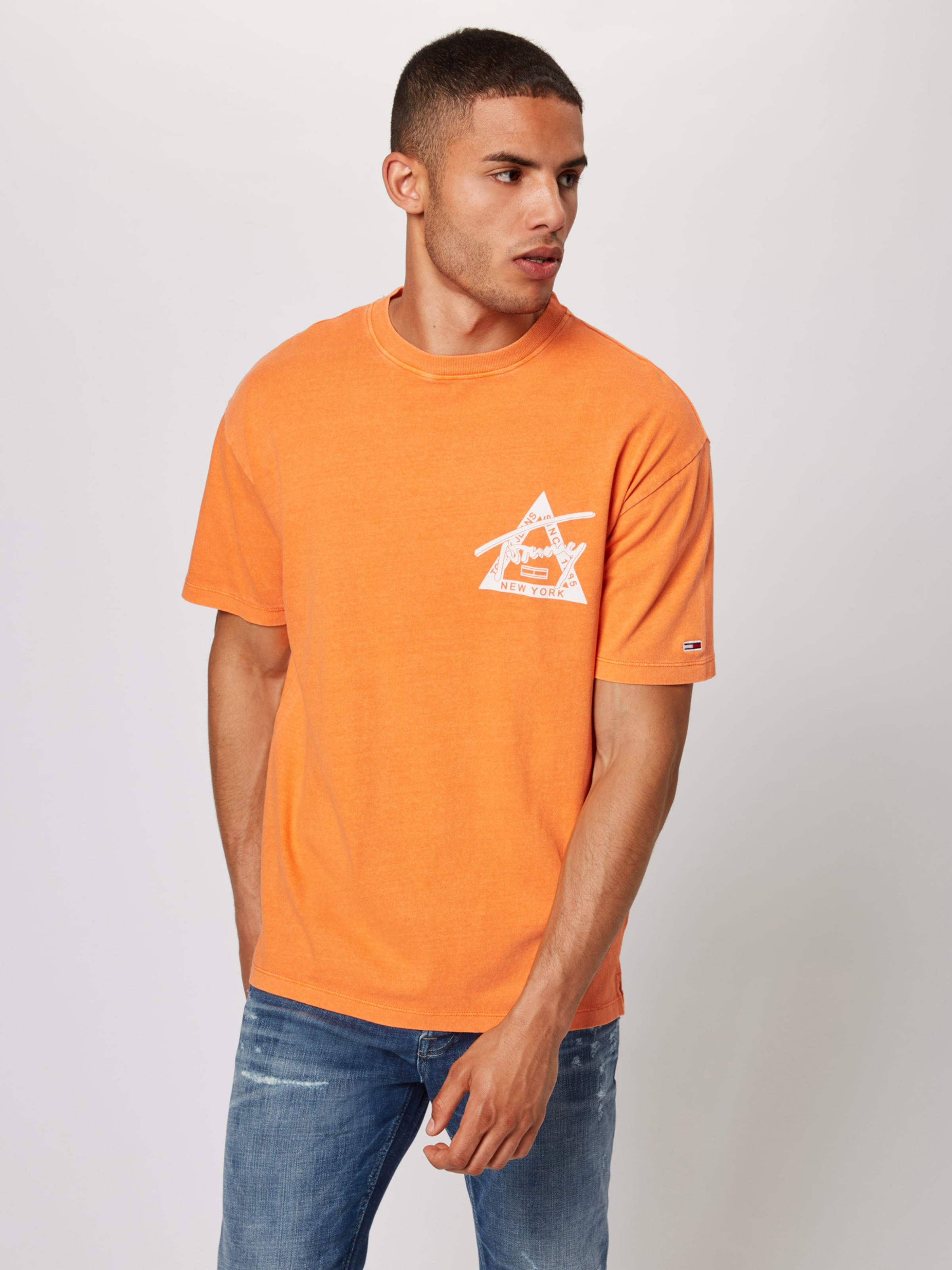 'washed In OrangeWeiß Graphic' Shirt Tommy Jeans LGSUqzVpMj