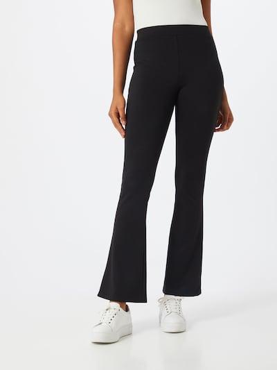 Dorothy Perkins Kalhoty 'Black Ponte Flare Trouser' - černá, Model/ka