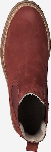 TAMARIS Chelsea Boots en rouge: Vue de dessus