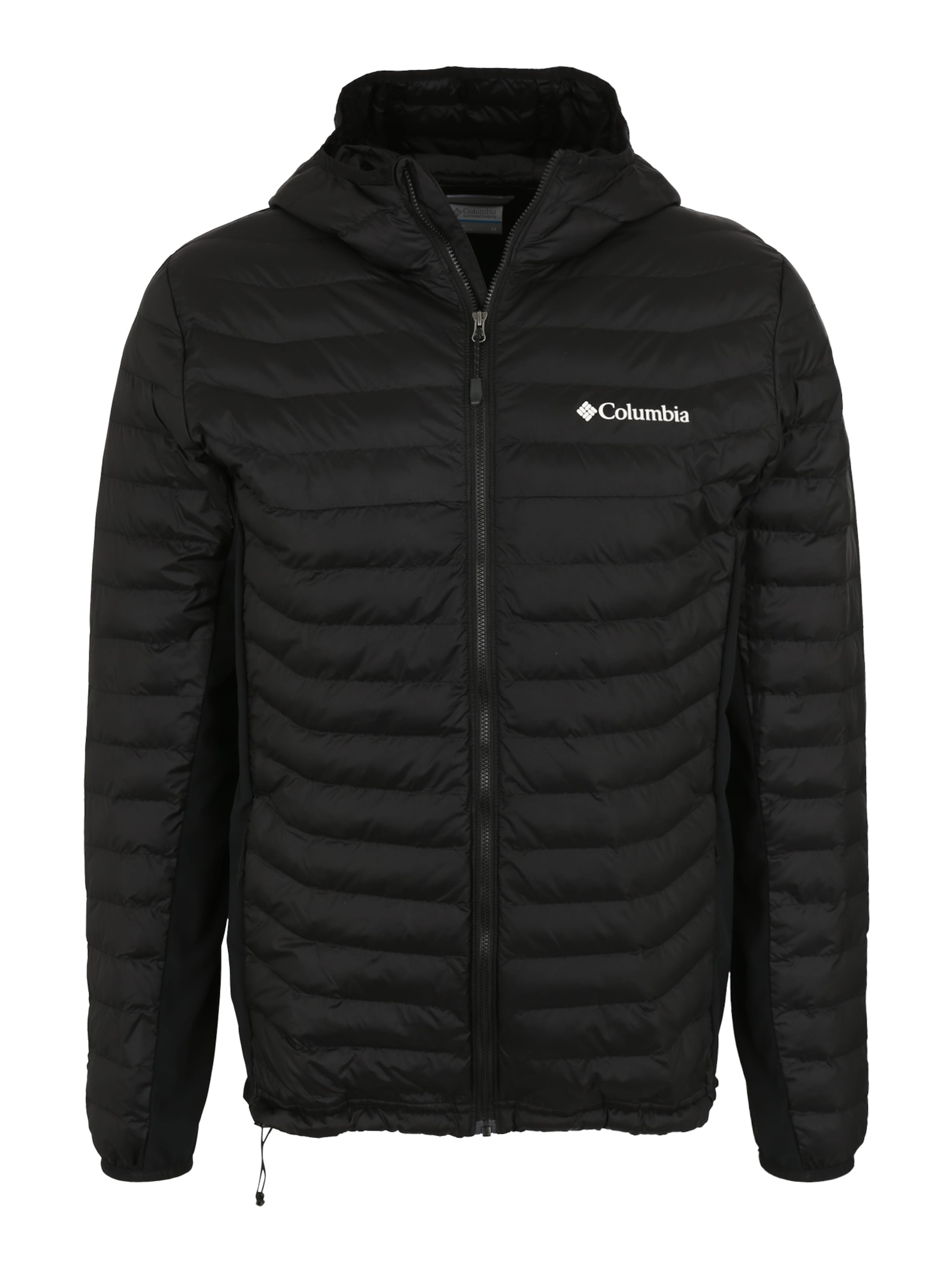 Sportjacke Hooded' 'powder In Schwarz Pass Columbia qUzSVGLMp