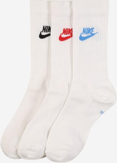 Nike Sportswear Chaussettes en bleu / rouge / noir / blanc, Vue avec produit