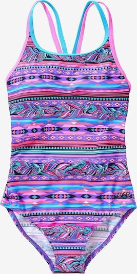 Zoggs Badeanzug 'Aztec Plume' in mischfarben, Produktansicht
