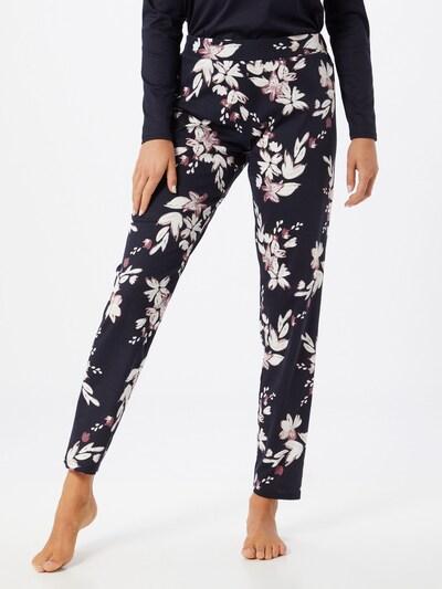 CALIDA Spodnji del pižame | temno modra / roza / bela barva: Frontalni pogled
