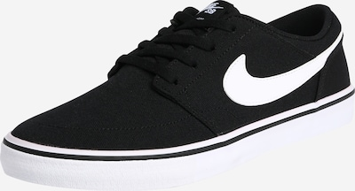 Nike SB Sneakers laag 'Solarsoft Portmore 2' in de kleur Zwart / Wit, Productweergave