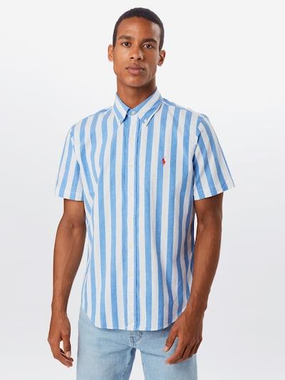 POLO RALPH LAUREN Koszula 'CUBDPPCSS-SHORT SLEEVE' w kolorze niebieski / białym: Widok z przodu